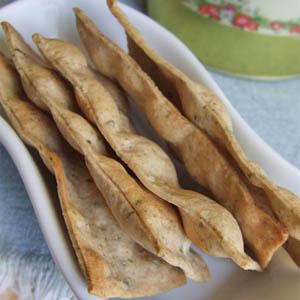 Crackers con le alghe e il ghee - Le alghe nelle ricette per le feste